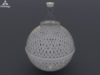 Small Moroccan globe shaped silver effect lantern